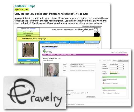 early days of Ravelry